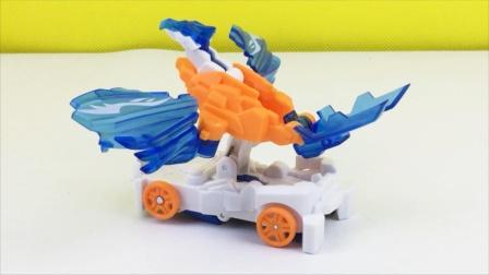 爆裂飞车4新玩具拆箱,破空长鹰弹射变形