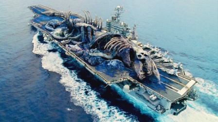 巨大怪兽,突然现身海洋,人类造巨形机器应战!《环太平洋》