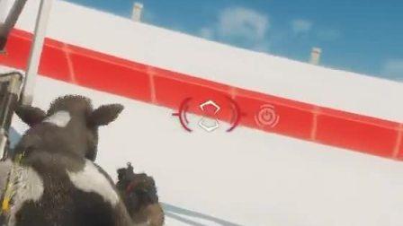 趣味小游戏:疯狂牛牛,毁掉电视大锅盖的神奇操作