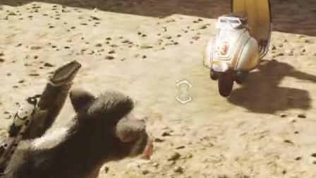 趣味小游戏:疯狂牛牛,用摩托车与钟楼来玩游戏