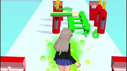 趣味小游戏:听说班上的女神都只吃青苹果,我也试试