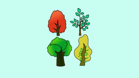 树木简笔画 - 一步一步教你画