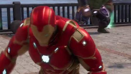 趣味小游戏:钢铁侠竟然在街头做出这事,绿巨人无语死了