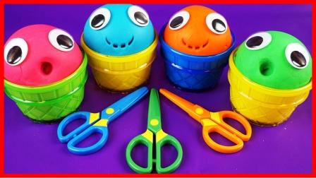 可爱笑脸培乐多黏土玩具开蛋