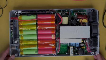 户外逆变220V电源拆机维修更换电池 没想到内部这么简单 感觉亏大了