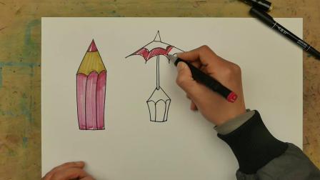 创意儿童画:铅笔创意练习
