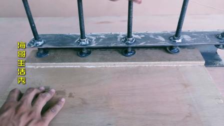 木工胶合木板,没有压板工具,今天想办法给你制作一个