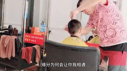 头发粗硬小男孩,发型这样剪,真帅