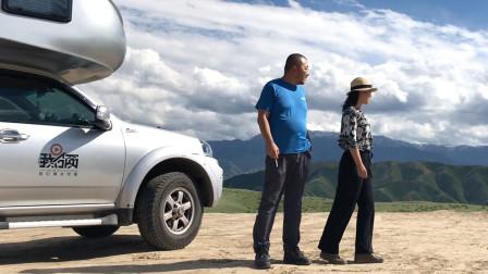 开房车堪景发现媲美伊犁草原的免费美景,近距离观雪山