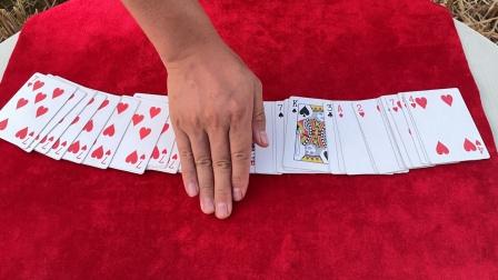 为什么魔术师手轻轻一挥,54张牌全变了,看完后我服了