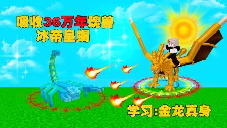 斗罗大陆双生武魂6.吸收36万年魂兽冰帝蝎,学习第七魂技金龙