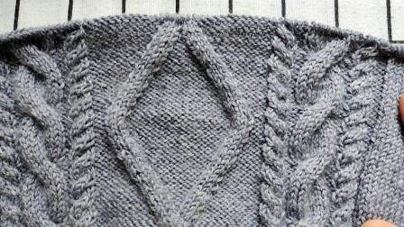 方块花背心手工编织视频教程三十集,第四十五行的编织,新手易学