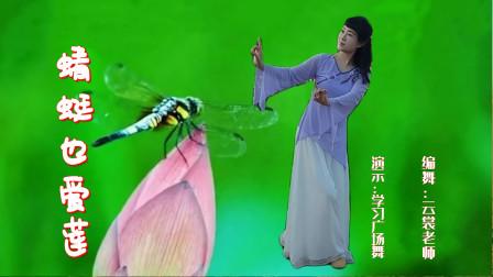 云裳广场舞《蜻蜓也爱莲》云裳老师原创唯美古典舞 学习广场舞版