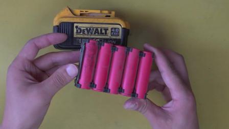 农民工维修得伟20V电池遇无良商家被坑 我来接盘拆开简直不敢相信 真是人生第一次遇到