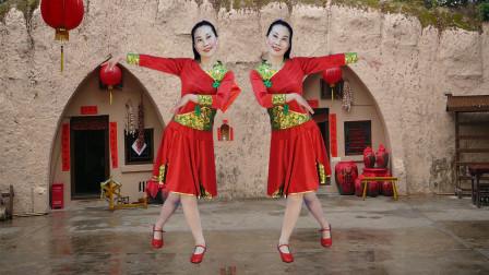 玖月广场舞:没有共产党就没有新中国 背面 简单的水兵舞