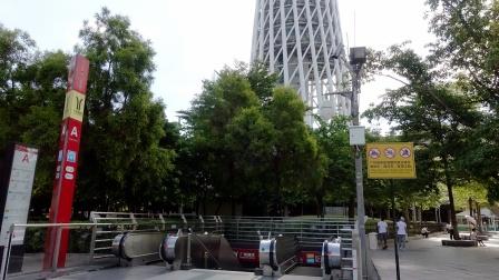 [2021.9]广州地铁3号线、APM线 广州塔站