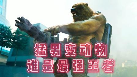 猛男变动物,狼人到熊人,哪个更厉害!