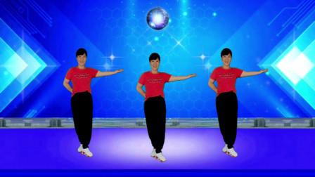郴州冬菊广场舞【满身花雨又回来】动感活力健身舞附背面分解