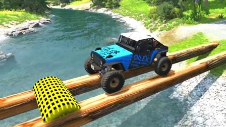 车祸模拟器:河面上架设独木桥谁能顺利通过?