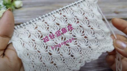 试试在花样里加点小心机,拉针竖条花编织教程,织毛衣特别好看