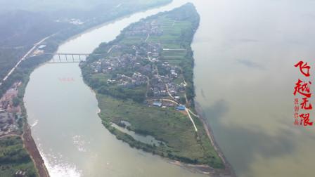 广西悟州的一个村庄,全村人都在岛上居住,只有一条桥通往