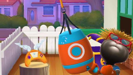 我的汤姆猫:汤姆猫玩蹦床玩的很有意思