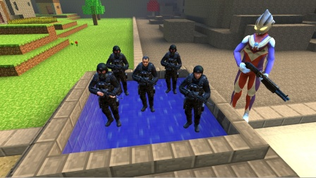 迪迦抓住一群黑衣人,放在水井里干什么啊?