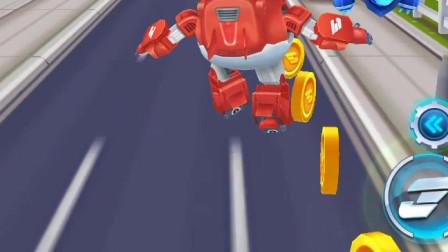 超级飞侠跑酷:乐迪在往前跑,有障碍吗
