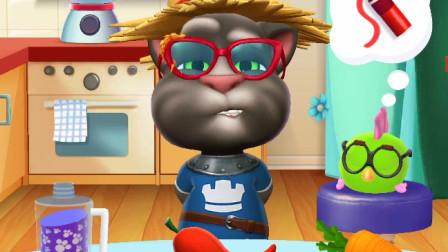 我的汤姆猫:肚子饿了,去厨房吃东西