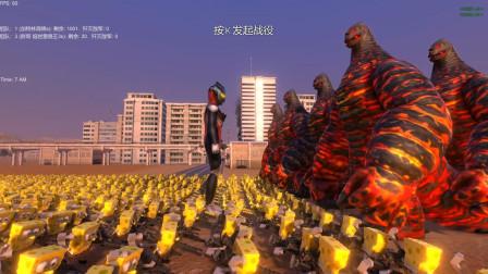龙卷风迪迦奥特曼带来1000个加特林海绵宝宝,挑战20个EX雷德王