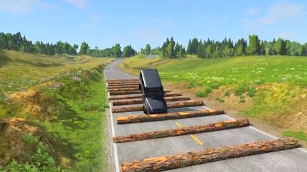 车祸模拟器:村口设置了一百条减速带谁能顺利通过?