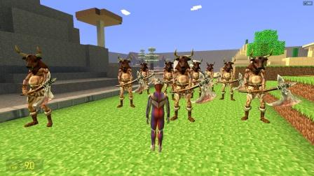一群怪兽戴着牛头面具来到迪迦身边干什么?