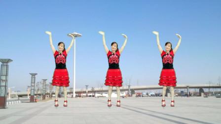 广场舞《歌唱祖国》32步,歌唱我们亲爱的祖国从今走向繁荣富强