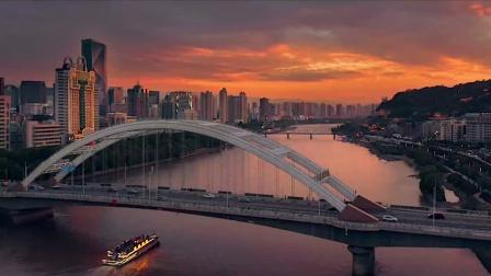 兰州元通大桥航拍全景