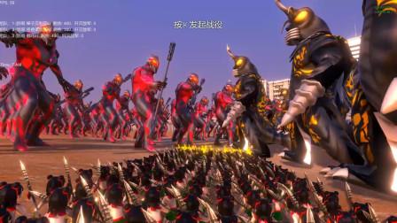 战斗仪贝利亚、哪吒和怪兽美加洛各400个混战,最后谁能赢?