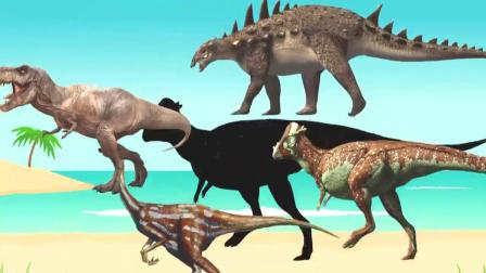 侏罗纪恐龙动画 介绍十几只小恐龙 儿童益智早教