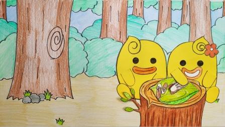 手绘定格动画:哪根是最长的巧克力饼干 ?小蜜鸭来帮忙