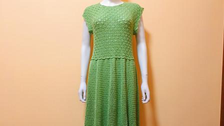 学习钩件漂亮的连衣裙,孔扇花连衣裙教程,大小长短皆可调(一)