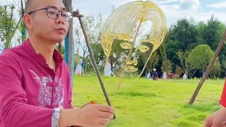 传统民间艺术:给我三包辣条,我能画个四大天王你信不?