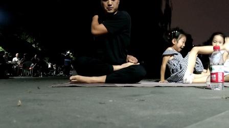 户外瑜伽带小孩