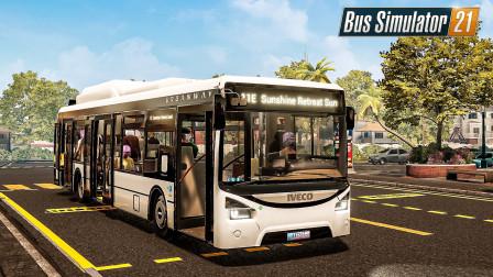 巴士模拟21 天使海岸 #12:繁忙且生猛的郊狼灌木林通勤线 | Bus Simulator 21