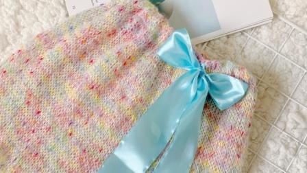 197暖裙子棒针裙子织毛衣手工编织钩裙子喳喳的线线窝