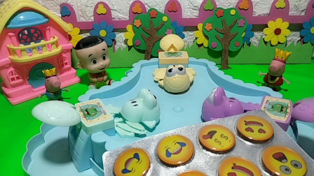 玩青蛙吃豆谁吃的豆豆多?笑脸巧克力奖励给谁呢?