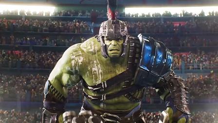 绿巨人大战雷神,穿上灭霸手套简直无敌