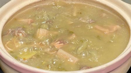 适合初秋时节喝的广东靓汤,猪骨鱿鱼莲藕汤,味道鲜美好喝