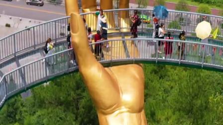 这就是贵州新晋网红景点,都匀大地之手,黄金一样金光闪闪的