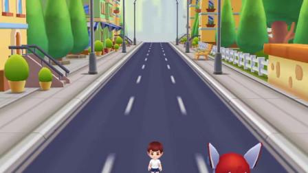 超级飞侠跑酷:乐迪忙着奔跑,没有听见你叫他