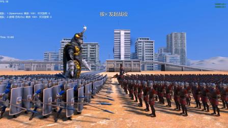 怪兽美加洛带领1000个护盾兵,挑战吕布和1000个弓箭手