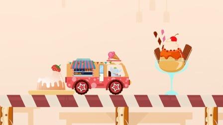 动物汽车大冒险,小象开着一辆糖果车