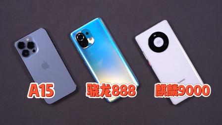 A15/骁龙888/麒麟9000三大处理器对比,安卓和苹果差距还有多远?